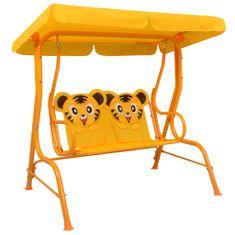 shumee Huśtawka dla dzieci, żółta, 115x75x110 cm, tkanina