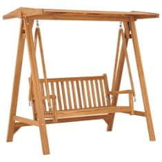 Vidaxl Houpací lavice 170 cm masivní teakové dřevo