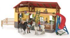 Schleich Stajňa pre kone s príslušenstvom