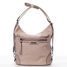 Romina & Co. Bags Dámská pohodlná koženková kabelka/batoh Anicet růžová