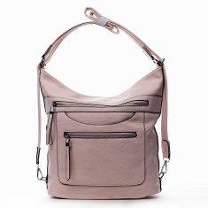 Romina & Co. Bags Pohodlná dámská koženková kabelka/batoh Fidéle růžová