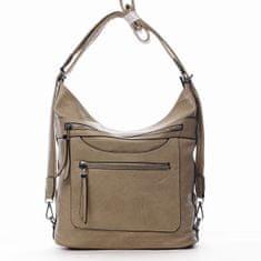 Romina & Co. Bags Pohodlná dámská koženková kabelka/batoh Fidéle zemitá