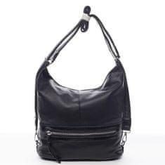 Romina & Co. Bags Praktický dámsky koženkový kabelko/batoh Hervé čierny