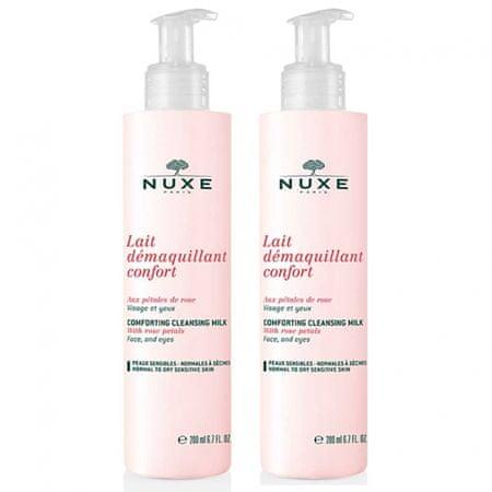 Nuxe Lait Confort Démaquillante mlijeko za čišćenje, 2 x 200 ml