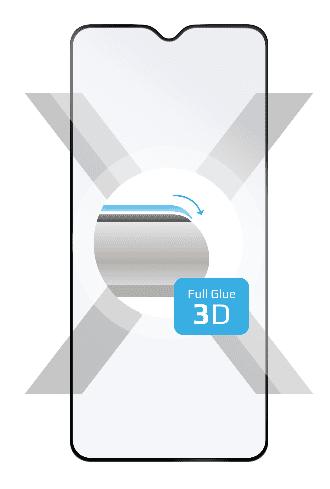 Fixed Ochranné tvrdené sklo 3D Full-Cover pre Samsung Galaxy Note 10 Lite, s lepením cez celý displej, čierne FIXG3D-477-BK