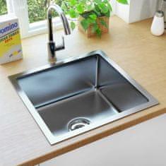 shumee Ručne vyrobený kuchynský drez so sitkom nehrdzavejúca oceľ