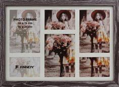 FANDY Dřevěný rámeček Narvik gallery na více foto 05 2 tmavě hnědý