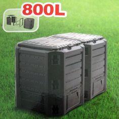 Kaxl Prosperplast Compogreen 800 l černý IKSM800C