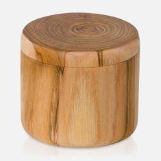 Möve Dóza s víčkem TEAK, wood