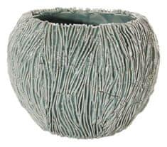 Shishi Doniczka ceramiczna szaro-zielona 13 x 17,5 cm