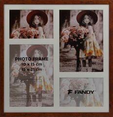 FANDY Dřevěný rámeček Style gallery na více foto 02 2 hnědý