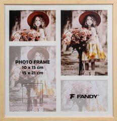 FANDY Dřevěný rámeček Style gallery na více foto 02 3 světle hnědý