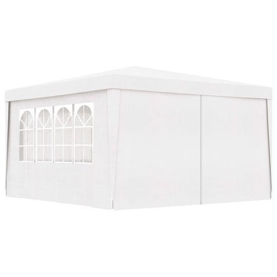 Profesionální party stan s bočnicemi 4 x 4 m bílý 90 g/m²