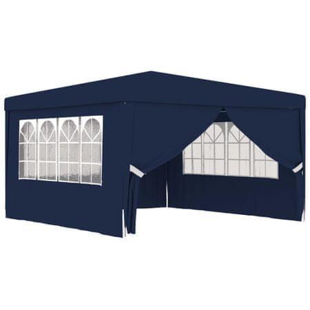 Namiot imprezowy ze ściankami, 4x4 m, niebieski, 90 g/m²