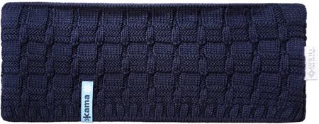 Kama unisex kötött Merino fejpánt CW12, kék