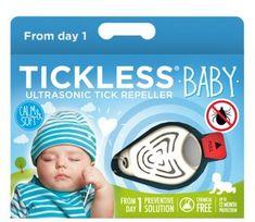 Tickless Baby/Kid ultrazvočni odganjalec klopov, bež