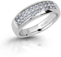 Modesi Błyszczące srebra pierścień z cyrkonem M11083 srebro 925/1000