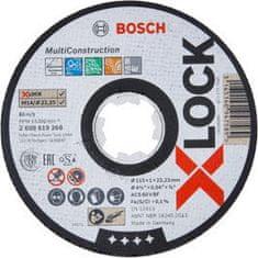 Bosch Plochý řezný kotouč Bosch Multi Material systému X-LOCK, 125×1,6×22,23
