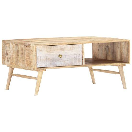 shumee Konferenčný stolík 88x60x40 cm mangovníkový masív