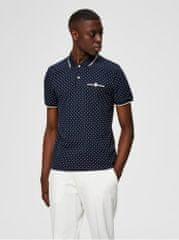 Selected Homme tmavě modré puntíkované polo tričko Patterson
