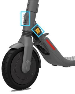 Elektryczna hulajnoga Segway Ninebot Kickscooter E45E, przednie i tylne hamulce, rekuperacja, światła LED
