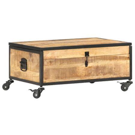 shumee tömör mangófa dohányzóasztal 70 x 50 x 33 cm