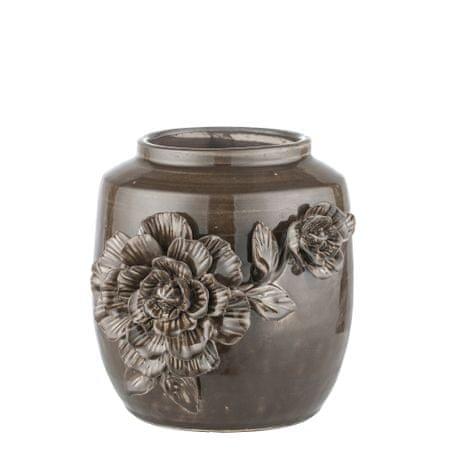 Lene Bjerre Kicsi kerámia burkolat a REIKA virágcseréphez, barna 18 x 18 x 21 cm