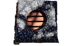 KHC Poporodní polštář Blaženka Bílé hvězdy na černé 40x40 Duté vlákno