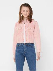 Jacqueline de Yong růžová džínová bunda Rosa