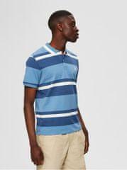 Selected Homme modré pruhované polo tričko Aro