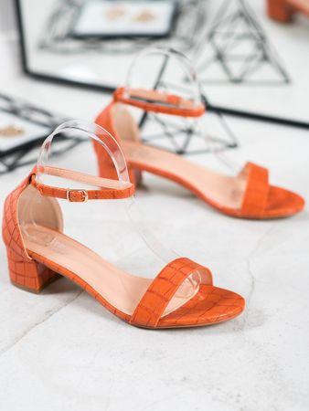 Női szandál 65359 + Nőin zokni Gatta Calzino Strech, narancssárga árnyalat, 37