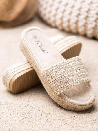Női papucs 65388 + Nőin zokni Sophia 2pack visone, bézs és barna árnyalat, 40