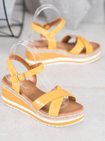 Női szandál 65400 + Nőin zokni Gatta Calzino Strech, sárga és arany árnyalat, 36