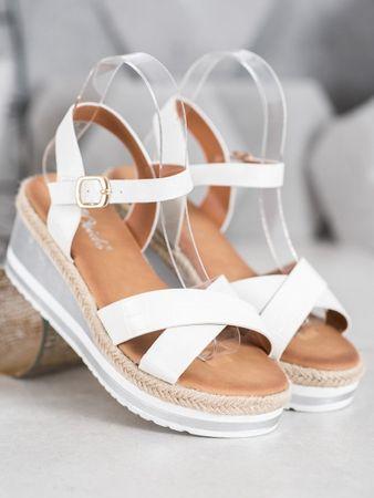 Női szandál 65401 + Nőin zokni Gatta Calzino Strech, fehér, 38