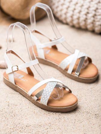 Sandały damskie 65423, odcienie szarości i srebra, 38