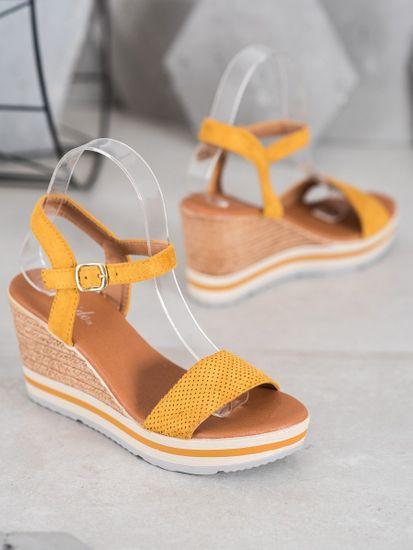 Dámske sandále 65430 + Nadkolienky Sophia 2pack visone, odtiene žltej a zlatej, 40