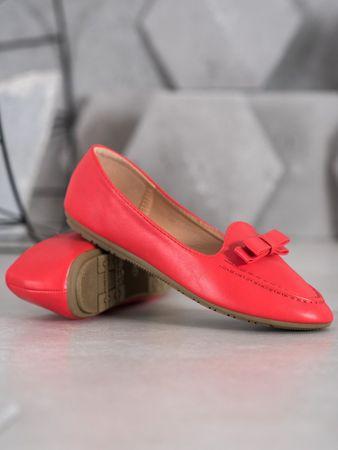 Baleriny damskie 65447, odcienie czerwieni, 39