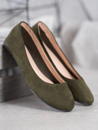 BEST SHOES Női balerina cipő 65465, zöld árnyalat, 38