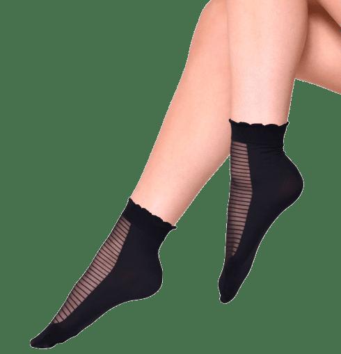 Andrea Bucci dámské silonkové ponožky Fishnet Ankle High 03/05142 38 - 42 černá