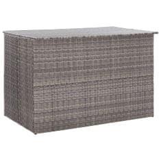 Zahradní úložný box šedý 150 x 100 x 100 cm polyratan