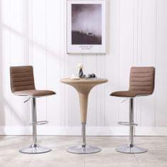 Vidaxl Barové židle 2 ks taupe textil
