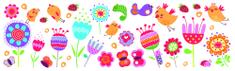 Crearreda ukrasne naljepnice za zidove i prozore W&W L, ptice i cvijeće