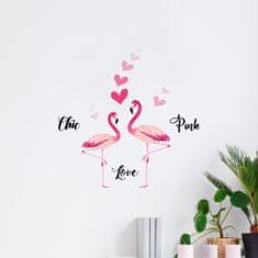 Crearreda zidne naljepnice S, flamingo