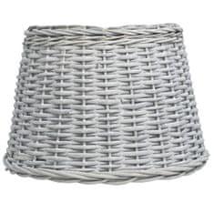 shumee Senčilo za svetilko pleteno 45x28 cm rjavo