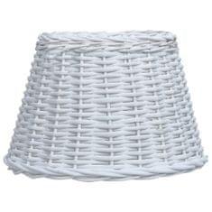 shumee Senčilo za svetilko pleteno 45x28 cm belo