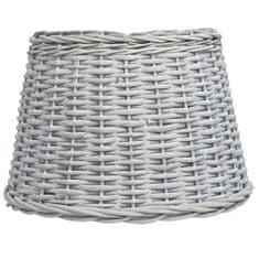 shumee Senčilo za svetilko pleteno 50x30 cm rjavo
