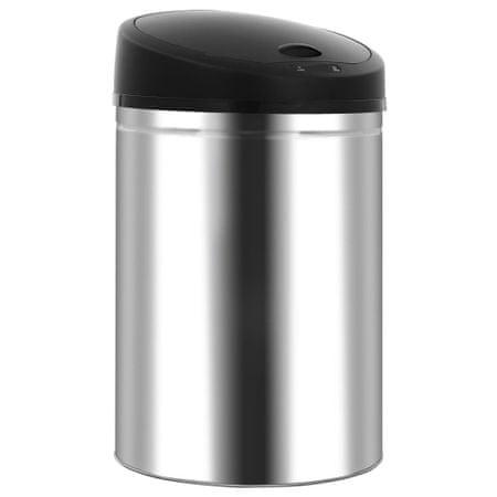 shumee Automatyczny kosz na śmieci z czujnikiem, stal nierdzewna, 32 L