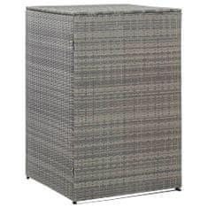 Osłona na kosz na śmieci, antracyt, 76x78x120 cm, rattan PE