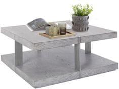Danish Style Konferenčný stolík Veranzo, 100 cm, strieborná