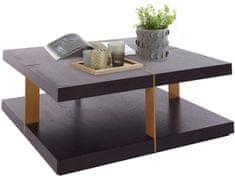 Danish Style Konferenčný stolík Veranzo, 100 cm, hnedá